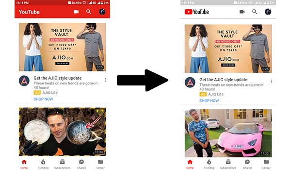 Youtube changed interface