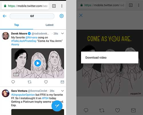 Download twitter videos in Android